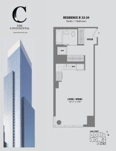 Residence B Floors 33-34