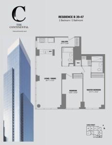 Residence B Floors 39-47