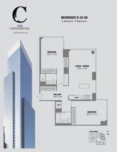 Residence D Floors 24-38