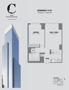 Residence F Floors 9-23