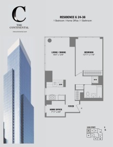 Residence G Floors 24-38